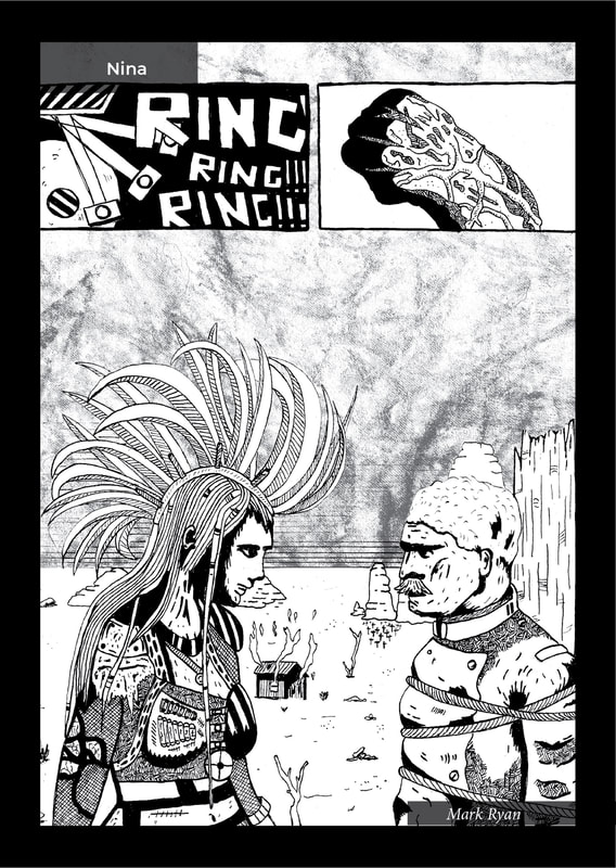 Page 13:  CRIME, issue 1.  An indie comic / flash fiction anthology book created by the Flash Fiction Force.  Published by Ashcan Comics Pub. (ACP Studios).
