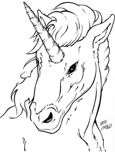 Fully rendered artwork: how to draw a Unicorn by Nate Lindley.