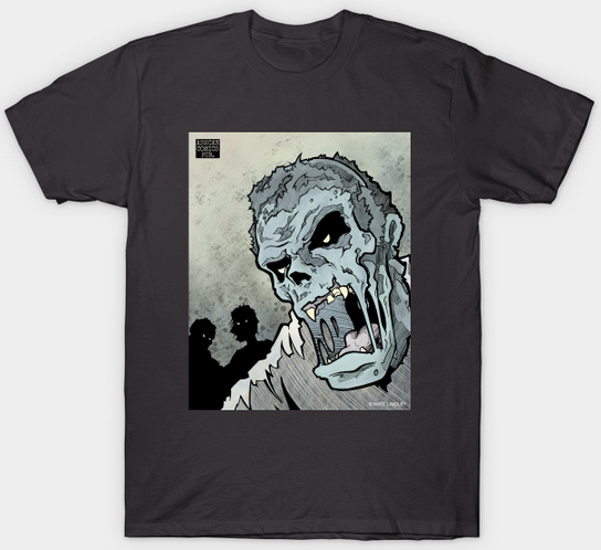Picture of Zombie T-shirt from Ashcan Comics Pub.Picture